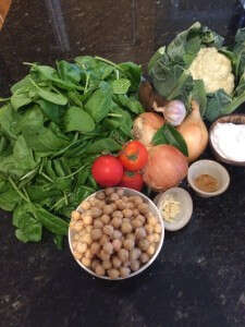 Cheerful Chick Pea & Soulful Spinach Ingredients